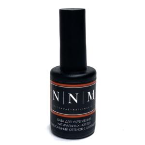 База для укрепления натуральных ногтей универсальный оттенок с шиммером 11 мл NNM