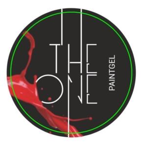 Гель-краска для дизайна ногтей, аэропуфинга и росписи КРАСНЫЙ 5гр. TheOne