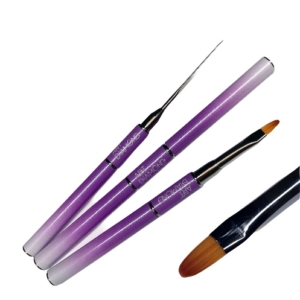 Кисть для полигеля фиолетовая (ворс синтетика) 1 шт.