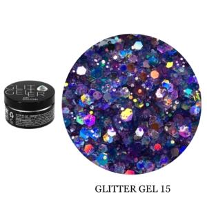 Гель Glitter-15 5гр